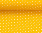 Cotton, yellow dotted, dots 2 mm