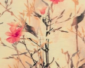 jersey, light yellow, flowers, red, pink