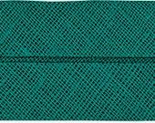 VENO cotton slanted ribbon, moss green, folded 40/20, width 2 cm, pre-folded from 4 cm to 2 cm