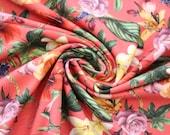 Jersey, orange-red, flowers