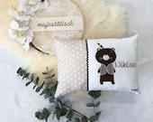 "Pillow ""Niklas"", name cushion, cuddly pillow"