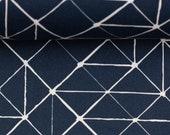 Cotton Kurt, dark blue, triangles, geometric pattern