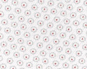 Cotton, Westphalian fabrics, princess, white, red flowered-dotted, roses