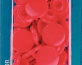 """Prym sewing-free snaps """"Color Snaps"""", round, 12.4 mm, red"""