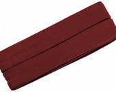 Jersey inclined band, dark red, width 2 cm, pre-folded from 4 cm to 2 cm, length: 3 m