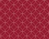 Cotton, Westphalian fabrics, Copenhagen, circles red and white