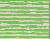 Jersey, striped, green/natural white, irregular