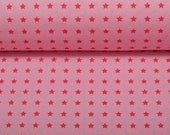 Cotton Kim, pink, pink stars, light blue dots