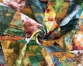 Decorative fabric, canvas, colorful, triangles, goa