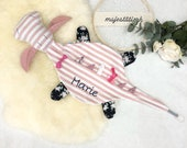 """Pacifier """"Hedi"""", with silicone ring, embroidered name possible"""