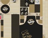 Canvas, Panel, Steinbeck happy kitchen, black-yellow