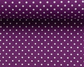 Cotton, Judith 647, violet dotted, dots 2 mm