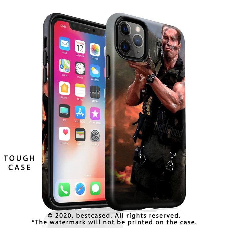 Arnold Schwarzenegger iPhone 12 Pro Max Case Commando iPhone 11 Pro Case iPhone 12 mini Card Case Funny Rocket Launcher mens gifts husband