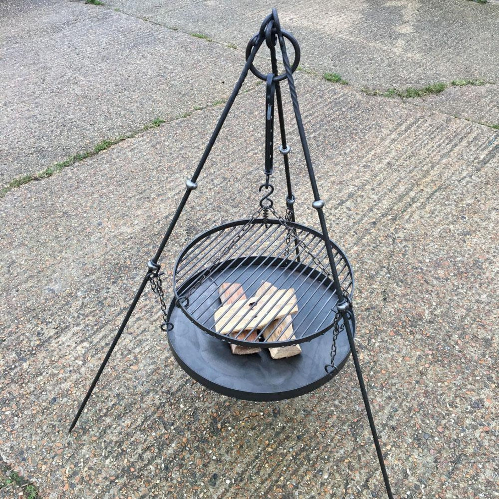 Campfire Cooking Tripod Firepit Set with Grill
