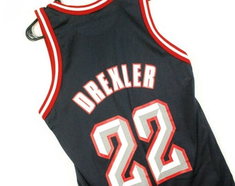 a7a81eb357d Vintage 90s Clyde Drexler Jersey Houston Rockets Champion Blue Mens Small 36
