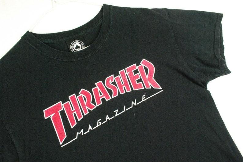 4450defeef1e Vintage Thrasher Magazine T Shirt Skateboard Supreme Black | Etsy