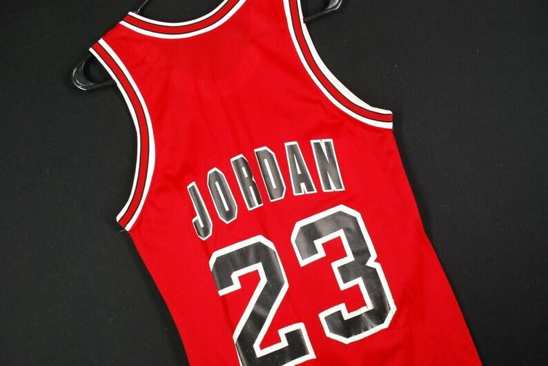 quality design ce49f 112e6 Vintage 90s Champion MIchael Jordan Jersey NBA Chicago Bulls Mens 36 Small