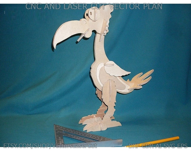 CorelDraw vector project for CNC router and laser cut Vector file for laser cutting plywood Toucan DXF CDR svg ai eps