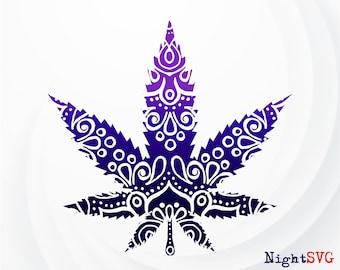 Marijuana Mandala Etsy