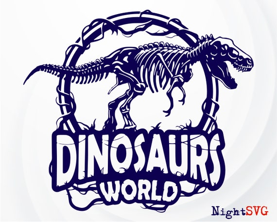 Jurassic World Skeleton Silhouette Girls Graphic T Shirt