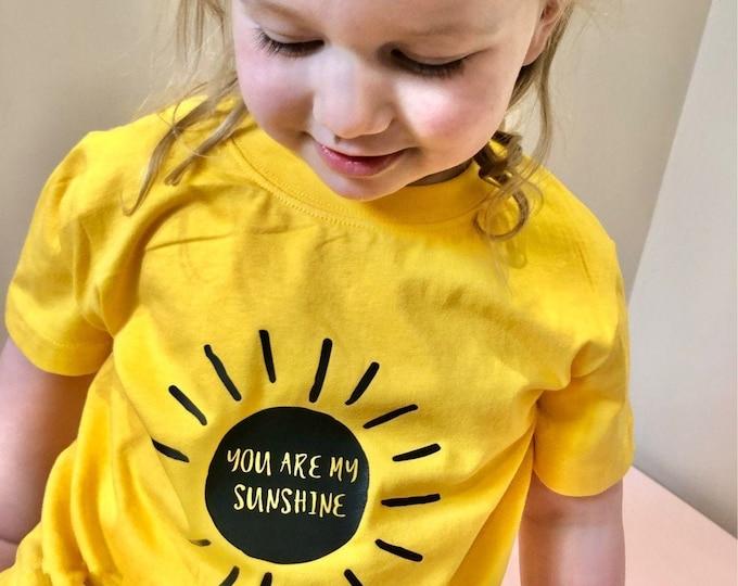 You Are My Sunshine Children's Yellow Tshirt