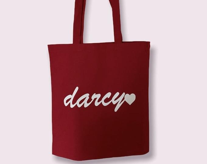 Red & White Original Darcy logo tote shopping shoulder bag