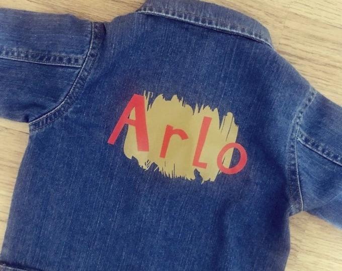 Unisex children's personalised denim jacket