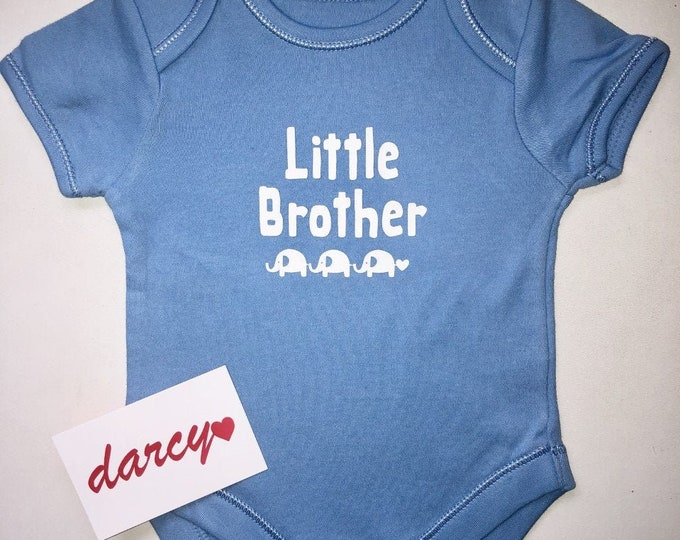 Little Brother/Sister Elephant Baby Vest