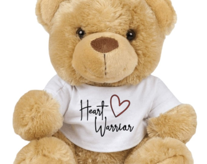 The Lexi Bear - Heart Warrior teddy bear - CHD awareness/heart awareness - Can be personalised