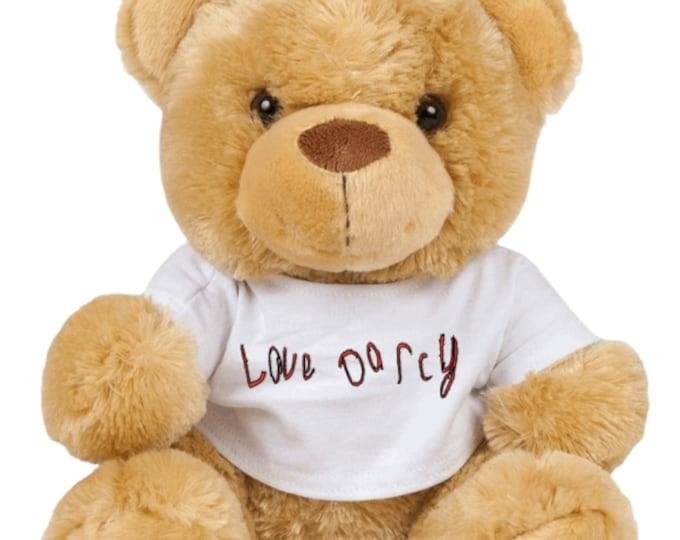 Darcy's own handwriting Teddy Bear
