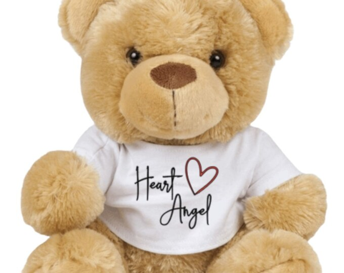 Heart angel teddy bear - CHD awareness/child loss/heart awareness/grief - Can be personalised