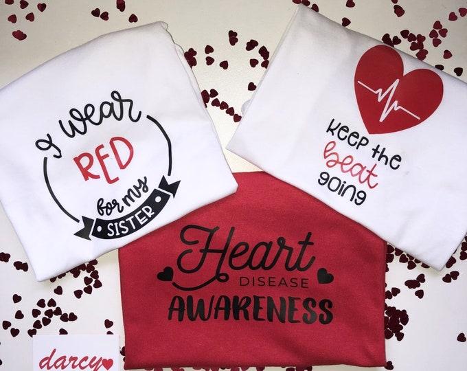 Heart Disease Awareness Charity T-shirts (ADULTS)