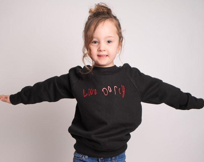Children's LoveDarcy sweatshirt (Available in other designs)