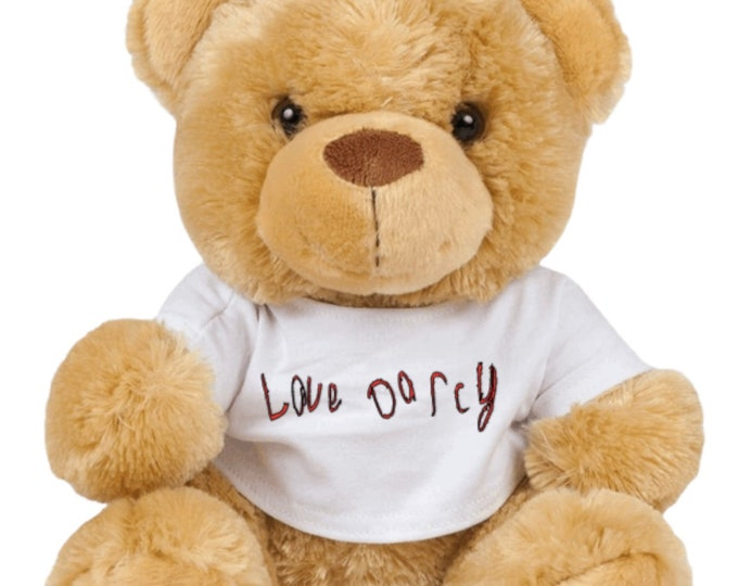 The Elara Grace Bear - Handwriting Teddy Bear