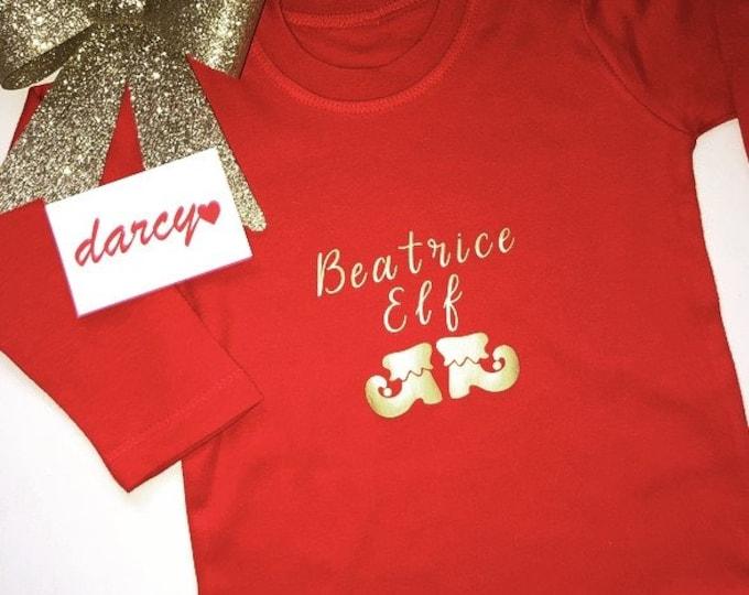 Personalised Elf Baby/Toddler T-Shirt
