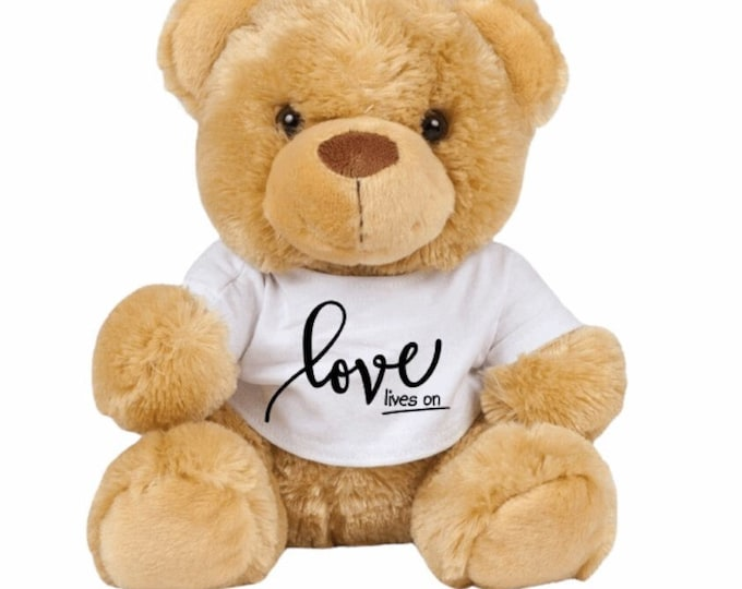 The Connor Bear - 'Love lives on' Teddy Bear - Grief/Loss/Child loss/Grief awareness