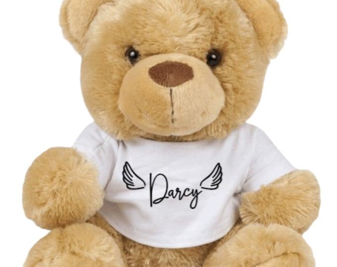The Nancy Bear - Personalised angel wings named bear