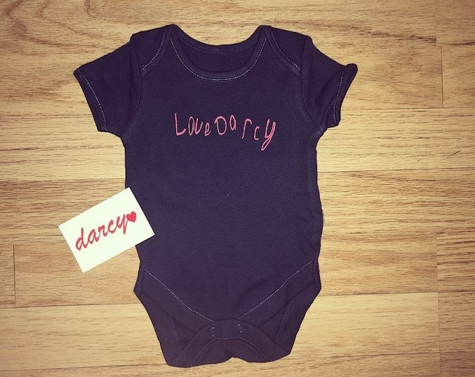 Darcy's Handwriting Baby Vest *Other Colours Available*