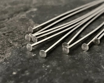 Findings//Bright 20 pcs .925 Sterling Silver Headpins 1.5mm Head Pins 22ga 22 Gauge 2.5?
