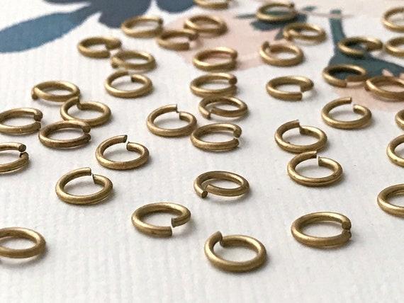 300 x Bronze Jump Rings Jumprings ~ 4mm 0.8mm ~ Jewellery Findings