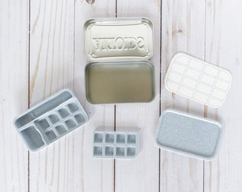 Pocket Palette | Travel Palette | Storage | Removable Pan Wells | Large Mixing Well | Altoids Tin
