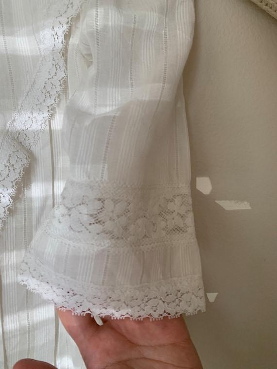 Vintage 1970s Gunne Sax white dress - image 10