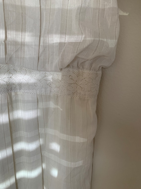 Vintage 1970s Gunne Sax white dress - image 7
