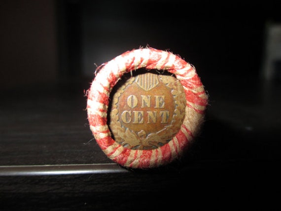 2 Rolls Of Wheat Cents Mixed Dates With 1 Indian Heat Cent.