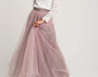 5063dd668f Long tulle skirts for women,Pale pink tulle skirt,Adult tutu,Tulle skirt  full lenght,Wedding overskirt,maxi tulle skirt,adult tutu skirt