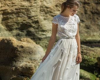 Beaded Wedding Dress Etsy