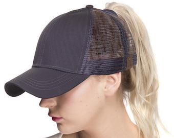 2bbbddc7aaeec Ponytail trucker hat