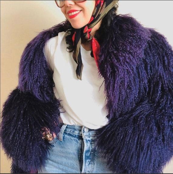 Vintage 70s Mongolian Tibetan Fur Coat