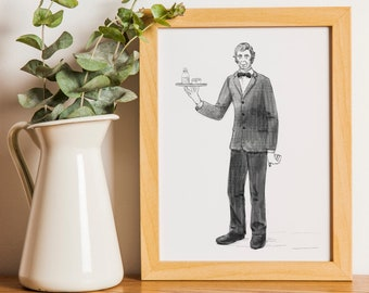 Lurch from Addams Family Printable Art Digital Download