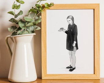 Wednesday from Addams Family Printable Art Digital Download